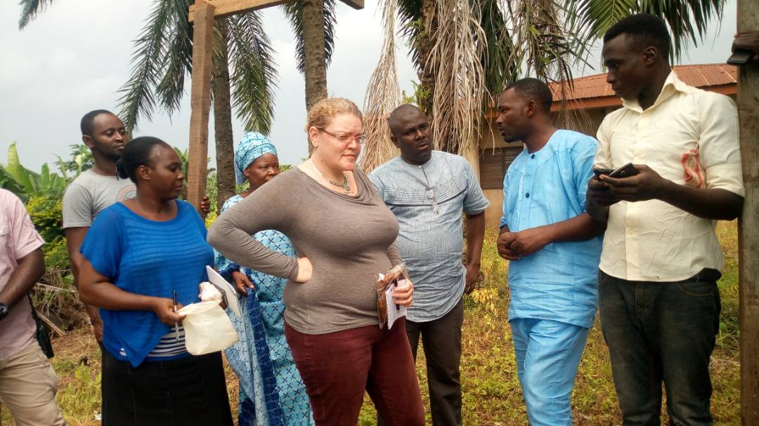 Monitoring visit by USAID staff to a fish farmer group in Akure, Nigeria